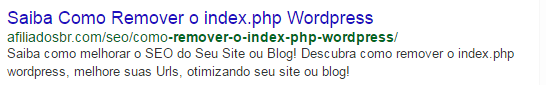 Remover index php WordPress