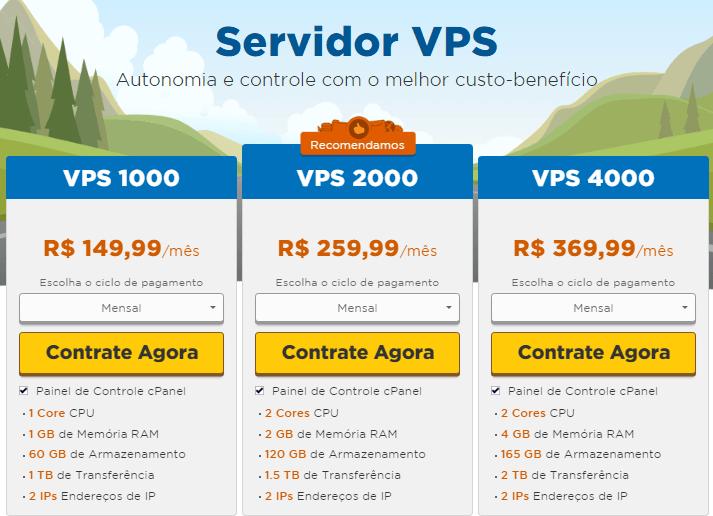 servidor vps hostgator brasil