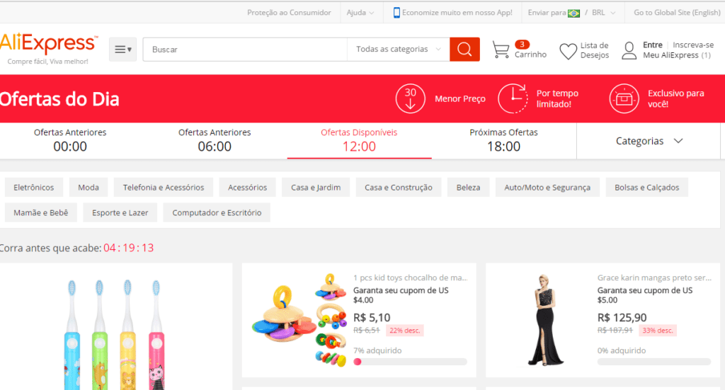 Não preciso ler + nada. Vou comprar na prática. Clique Aqui! AliExpress Brasil é uma plataforma dentro do Aliexpress Mundial que o coloca em contato com ce